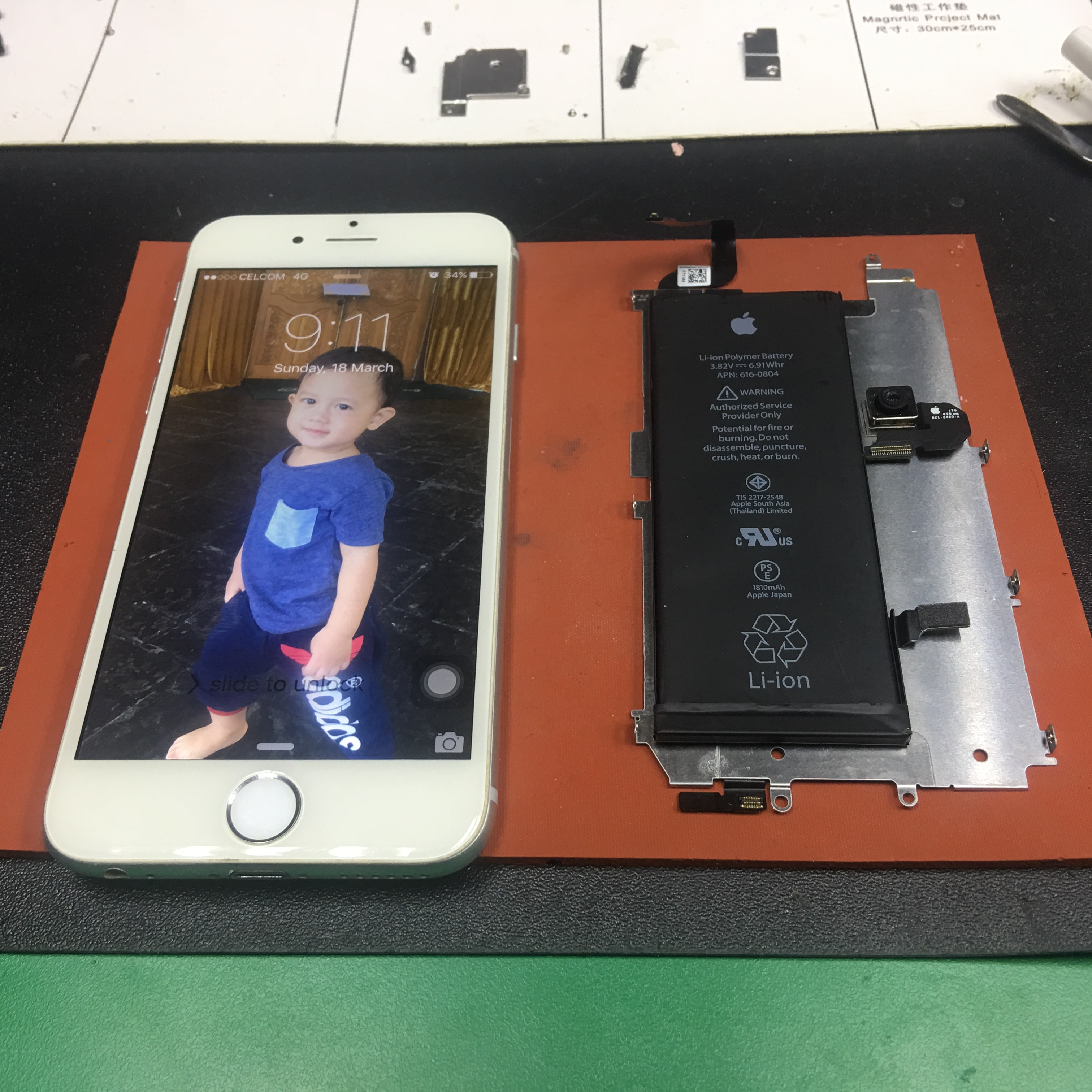 LCD & Battery iPhone 6 Replacement