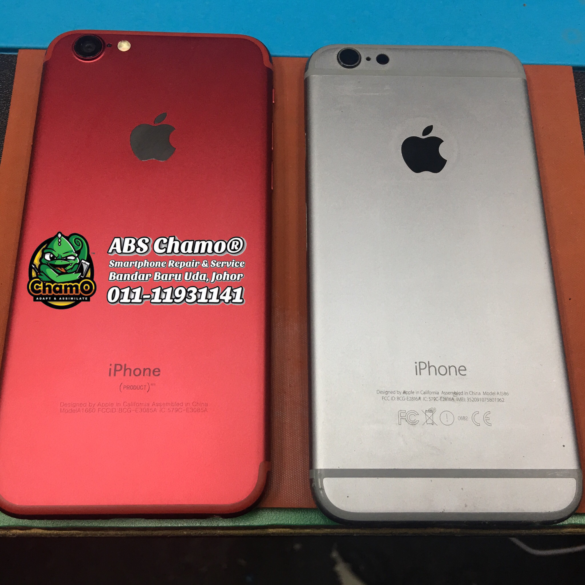Repair Bateri , WiFi Ribbon & Convert Body iPhone 6 to iPhone 7