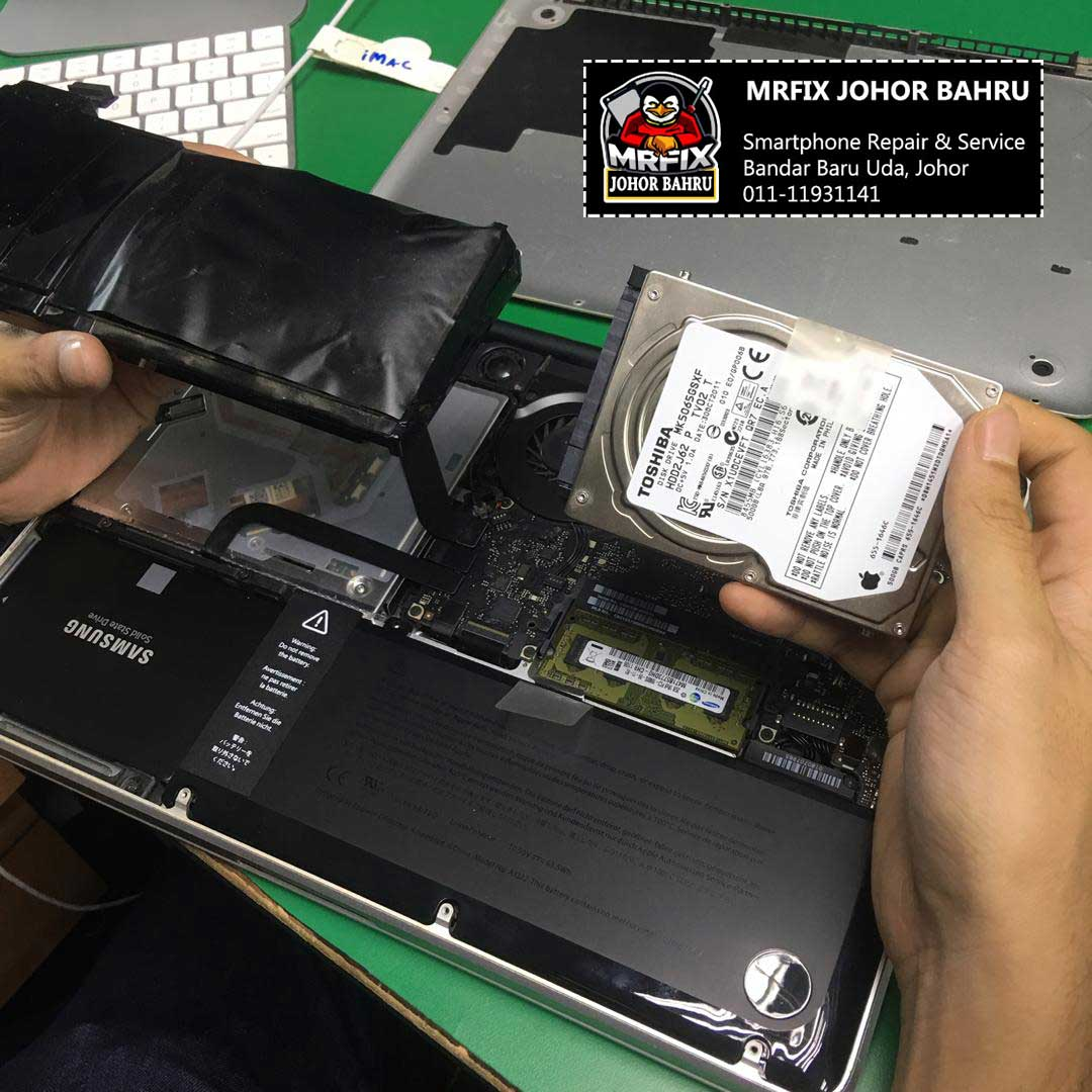 Upgrade SSD & Change Battery Macbook Pro 13″ 2012 A1278