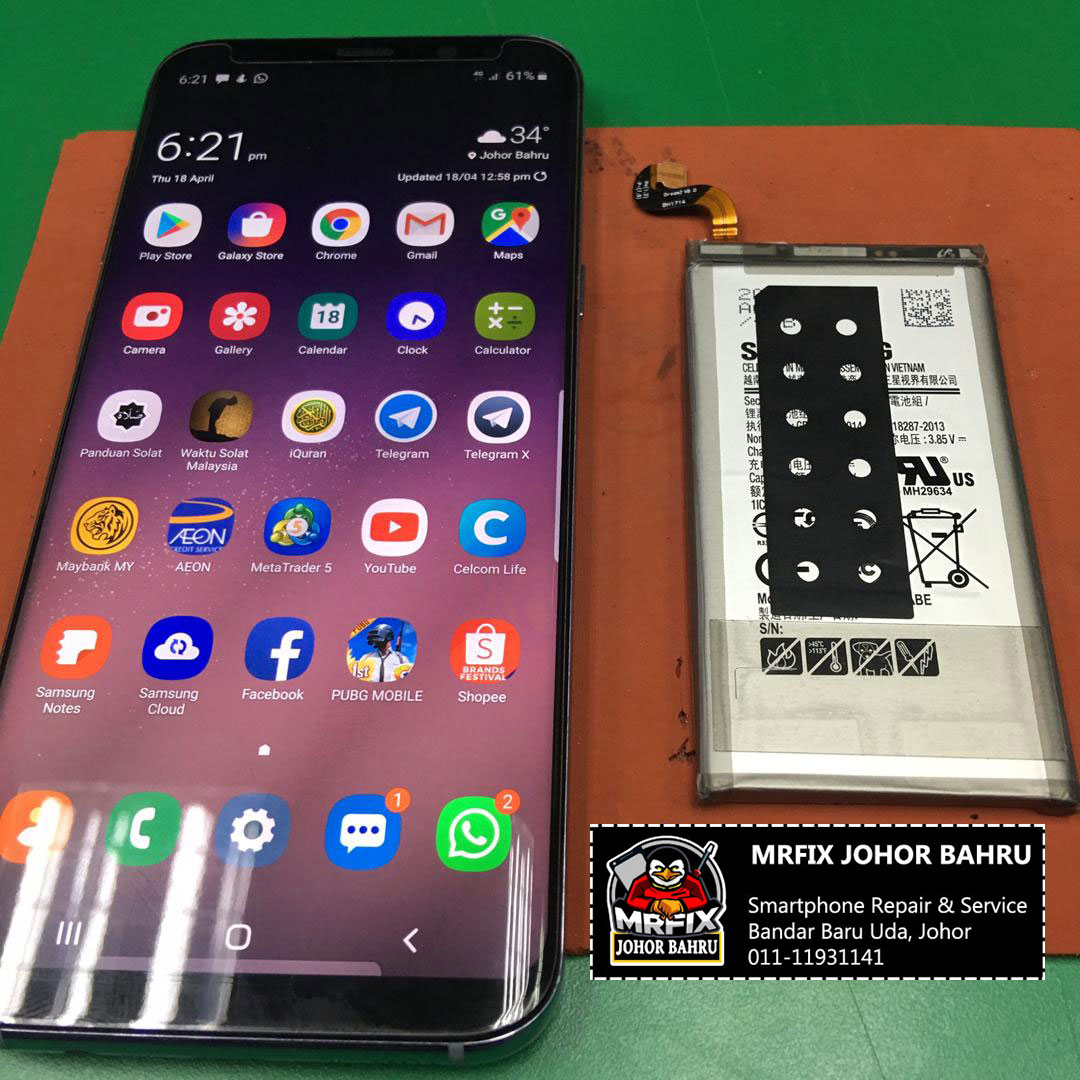 Battery Replacement Samsung S8 Plus
