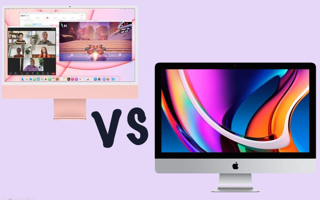 Perbezaan antara iMac 24″ dengan 27″.